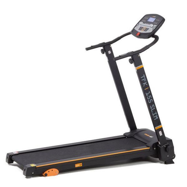 Az Everfit TFK 155 Slim elhozza Önnek otthonába az edzőtermi professzionalitást. A futópad az edzés fontos adatait kék háttérvilágítású LCD kijelzőn jeleníti meg, így mindig figyelheti a test jelzéseit.