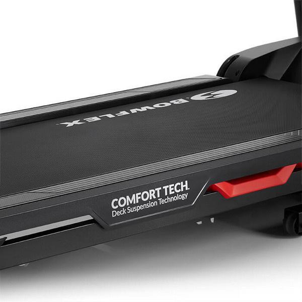 A Bowflex BXT128 futópad Comfort Tech rezgéscsillapító rendszerrel ellátott modell.