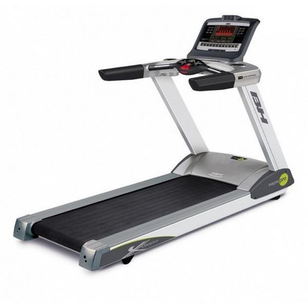 BH Fitness Magna Pro futópad nagy teherbírású  és tágas kialakítású fitneszgép, mely kisebb stúdiók illetve Wellness hotelek számára ajánlott.