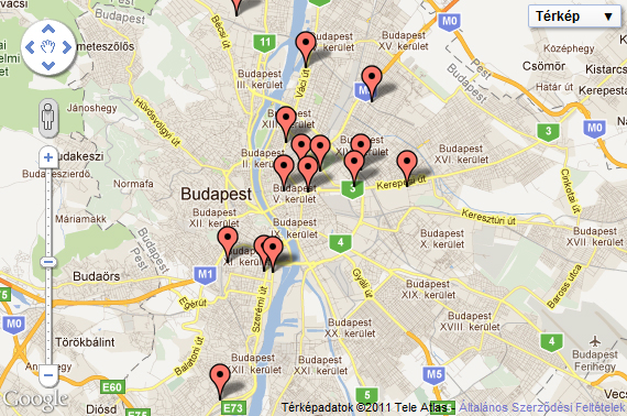 Fitness terem kereső térképen
