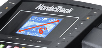 NordicTrack c200 futópad kijelző mérete